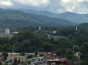 Panoramic view of Waynesville in western North Carolina